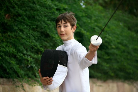 Budding fencing prodigy Yuval Freilich