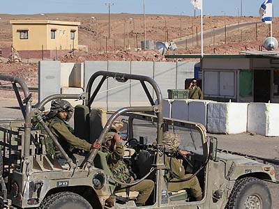 Israeli soldiers patrol the Egyptian border. Doubts have been raised recently regarding the stability of Israel's peace treaty with Egypt.