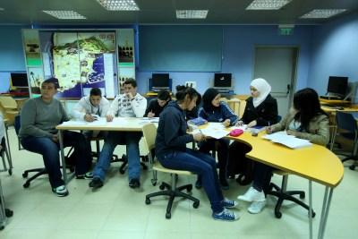 Israeli Arab students at school in Acco