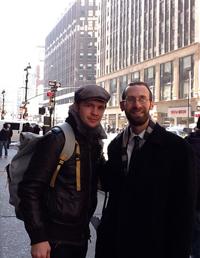Rabbi Josh Friedman of Lezion B'rina with boxer Yuri Foreman