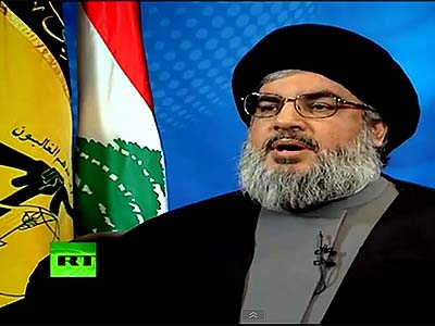 Hassan Nasrallah was the first interviewee on Julian Assange's new show on Russian TV.