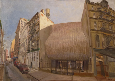 Synagogue for the Arts (2000), oil on linen by Robert Feinland. Courtesy Chassidic Art Institute