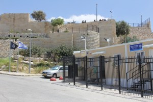 The new police station on the Mount of Olives, the Rechavam Zeevi Lookout is in the background.