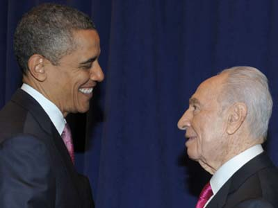 President Shimon Peres and President Barack Obama in Washington last week.