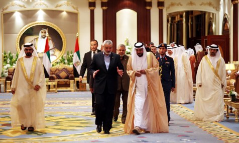 UAE leaders meeting with Hamas PM Haniyeh