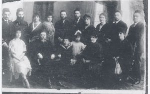 The family of Rabbi Yosef Leib Bloch (wearing the eyeglasses). If you can identify other people in the photo, please email us.