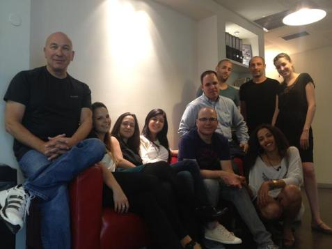 The team behind JobsMiner.com in the company&#039;s headquarters in Kiryat Ono, Israel.