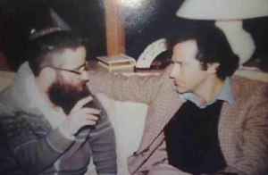 In the old days, with Rabbi Yehuda Hazani in New York.