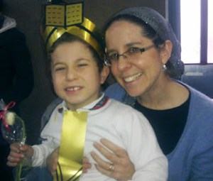 Yehuda and his mother, Jennie, at Yehuda's siddur party