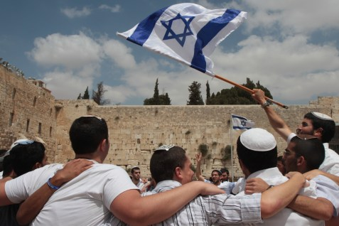 Israelis celebrating Jerusalem Day