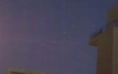 A formation of UFOs in Israel's sky, Wednesday night.