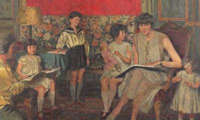Edouard Vuillard: Madame Jean Bloch and Her Children, second version, 1930, reworked 1933 and 1934.