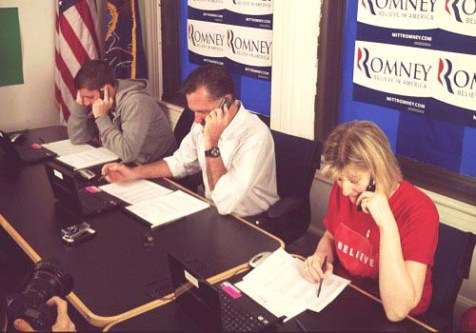 Candidate Romney fundraising in earnest on the campaign trail.
