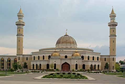 The Islamic Center of America in Dearborn Michigan, the largest mosque in the United States.
