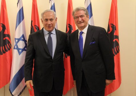 Israeli PM Benjamin Netanyahu and Albania PM Gerisha Sali meeting in Jerusalem.