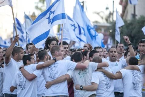 Israelis celebrating