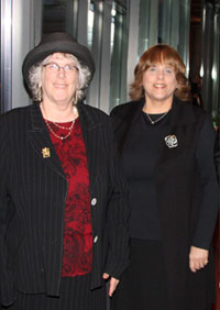 The author with her sister, Hindy Greenwald