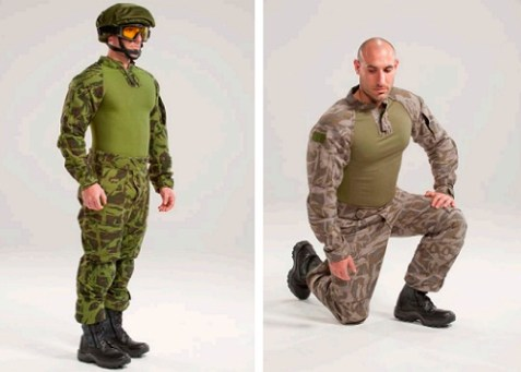 Fightex, a new generation of lightweight, reversible combat uniforms by Israeli firm Fibrotex