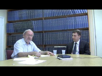 Eli Chomsky (left) and State Senator David Storobin in The Jewish Press offices in Brooklyn.