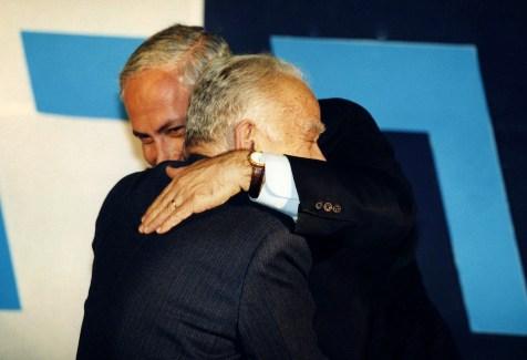 Yitzhak Shamir and Benyamin Netanyahu