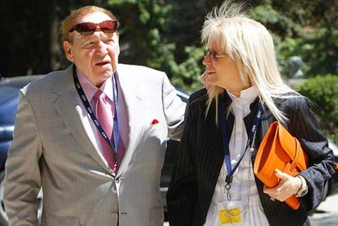 Jewish billionaire businessman Sheldon Adelson and his wife Miriam.