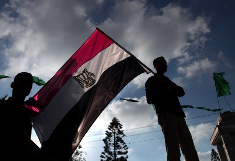 Muslim Brotherhood supporters waving the Egyptian flag