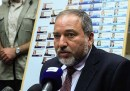 Israel Beytenu leader Avigdor Liberman during a press conference after his draft bill was voted down.
