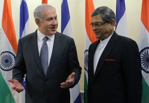 Prime Minister Benjamin Netanyahu meeting with India's Foreign Minster