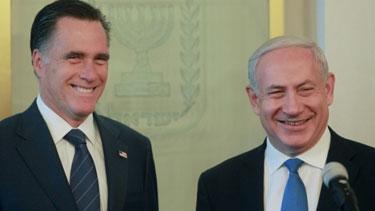 MItt Romney (left) and Benjamin Netanyahu