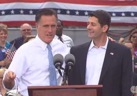 Mitt Romney introducing Paul Ryan