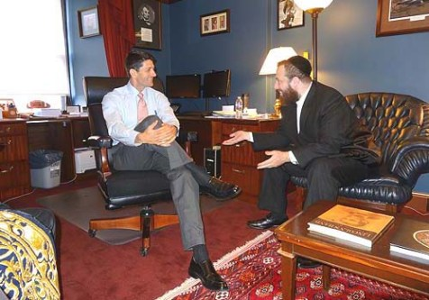 Chassidic Consultant Ezra Friedlander Meets with Paul Ryan.