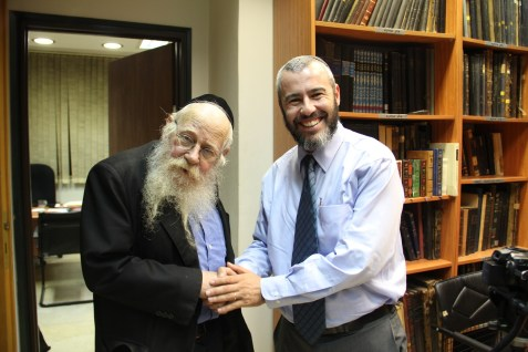 Yishai & Rav Steinsaltz 1