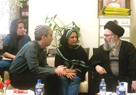 Some of the &quot;Rabbis for Obama&quot; group in conversation with an Ayatollah on their recent visit to Iran.