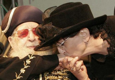 Adina Bar Shalom with her father, Shas spiritual leader Rabbi Ovadia Yosef.