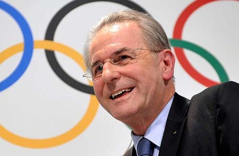 Jacques Rogge, head of the IOC for more than a decade, will likely have a cleansing experience facing angry Jews Monday.