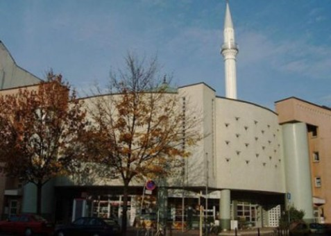 Yavuz Sultan Selim Mosque in Mannheim, the biggest mosque in Germany.