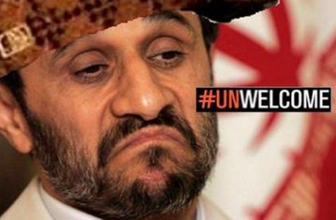 Ahmadinejad Unwelcome