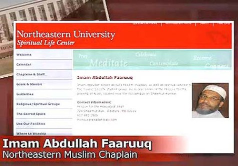 Abdullah Faarruq's page at Northeastern University suddenly disappeared from the Northeastern University website.