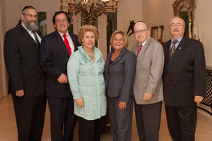(L-R) Dr. Irving Lebovics; Dr. Morry Waksberg; Sarita Spiwak; Rep. Ileana Ros-Lehtinen; Stanley Treitel; and Commissioner Howard Winkler at the CRIC speaker series brunch.