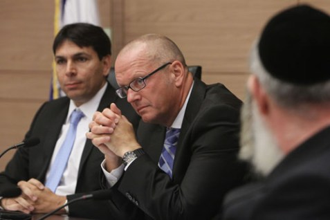 German Ambassador to Israel Andreas Michaelis attends a discussion in the Knesset regarding Brit Milah on July 9, 2012.