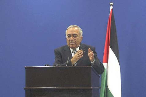 Palestinian Prime Minister Salam Fayyad
