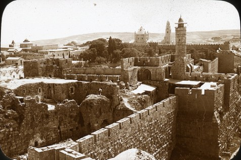 Traditional Mount Zion, from Tower over the Jaffa Gate, South.