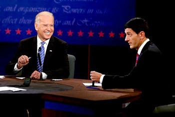 Joseph Biden and Paul Ryan during last week's presidential debate.