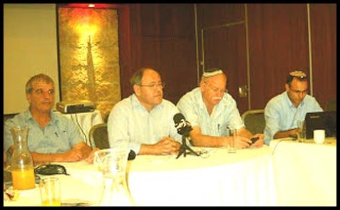 Right to left: Yigal Dilmony, Tzviki Bar-Chai, Dany Dayan, Avi Roeh.