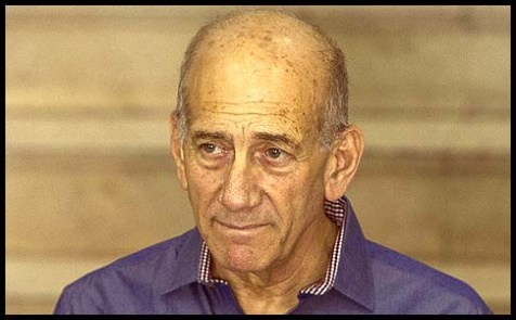 Former Israeli Prime Minister Ehud Olmert after hearing the verdict in his corruption trial last September.