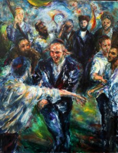 Joseph's Dance, (28 x 24), Oil on linen by Rosa Katzenelson