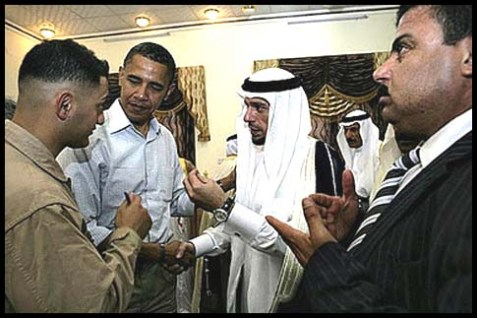 Obama with the sheikhs