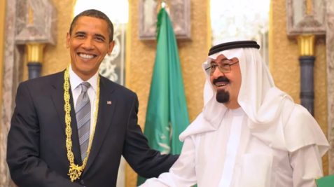 U.S. President Barack Obama and Saudi King Abdullah.