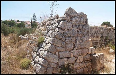 Ruins of an ancient synagogue in Shiloh