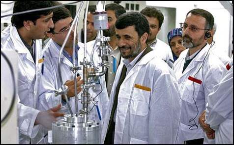 Ahmadinejad in nuclear plant